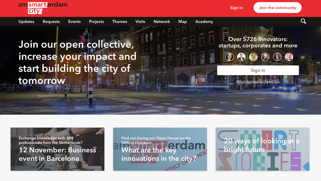 Amsterdam Smart City community homepage